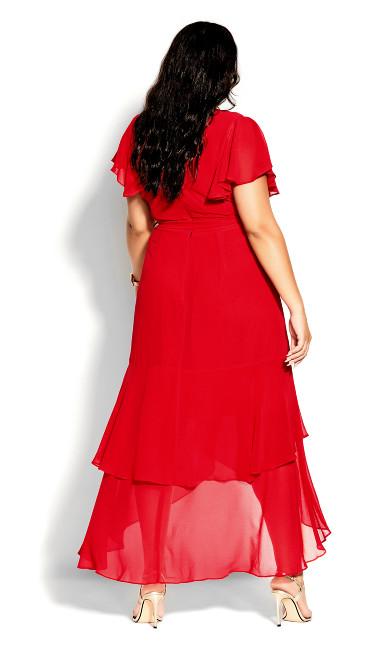 Flirty Tier Maxi Dress - lipstick