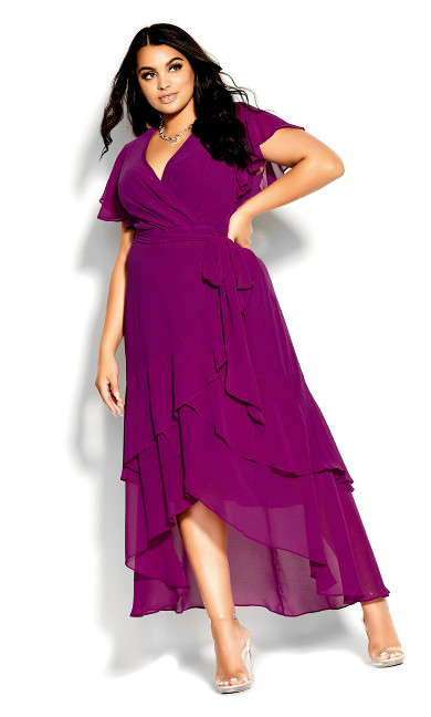 Flirty Tier Maxi Dress - magenta