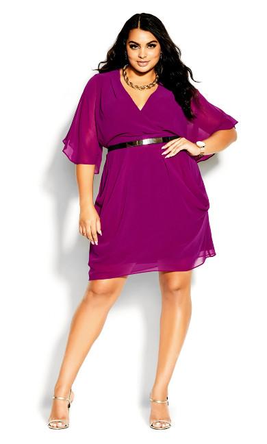 Colour Wrap Dress - magenta