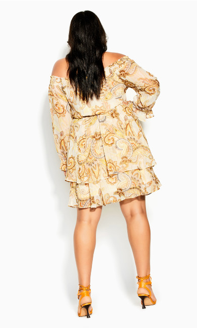 Pretty Paisley Dress - beige