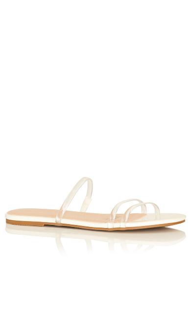 Plus Size Koa PU Slide - ivory