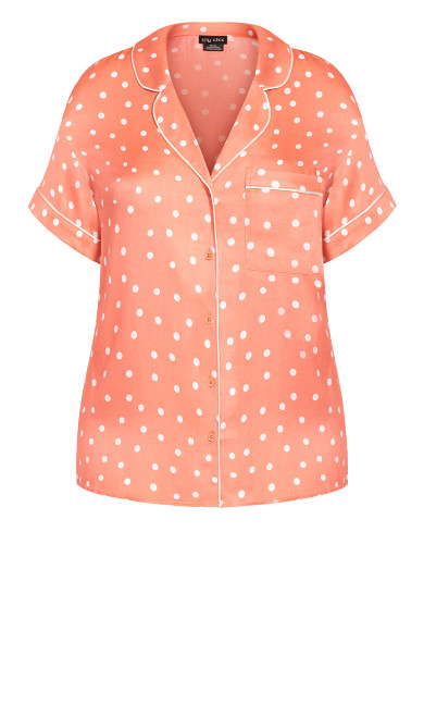 Kitty Short Sleeve Shirt - terracotta