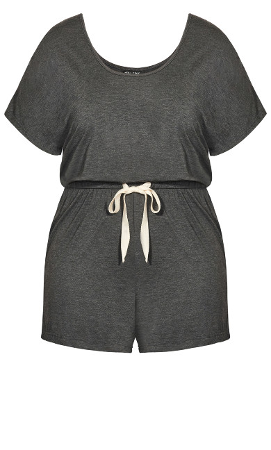 Carrie Romper - charcoal