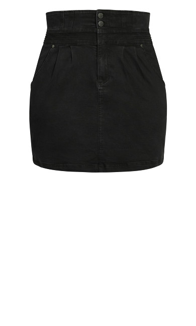 Denim Love Skirt - black