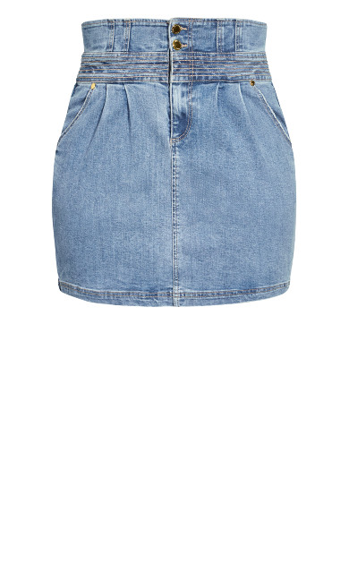 Denim Love Skirt - light wash