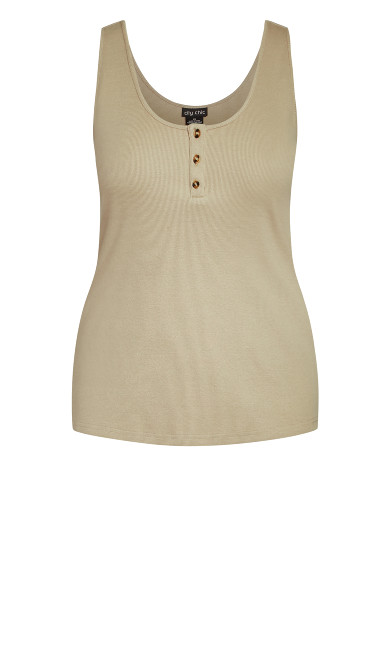 Button Grace Top - taupe