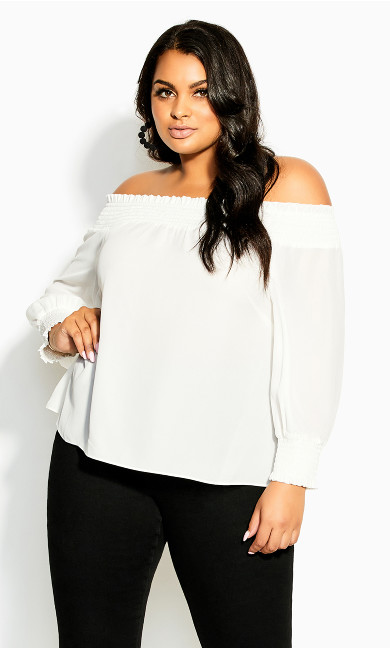 Poise Top - ivory