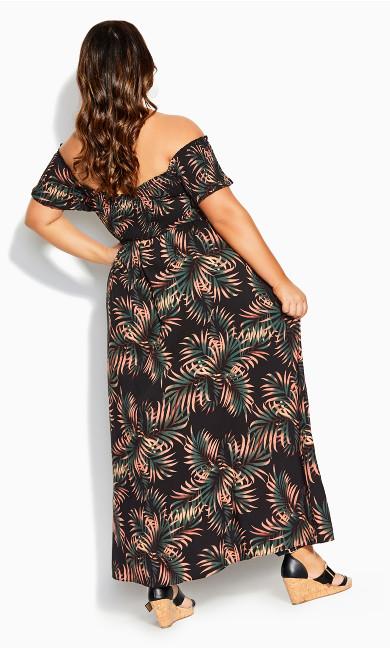 Yasmin Floral Maxi Dress - Black