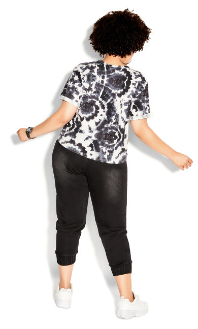 Moody Tie Dye Top - black
