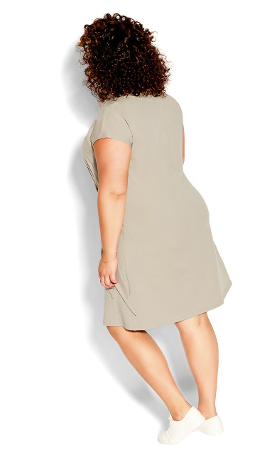 Easy Side Tie Dress - khaki