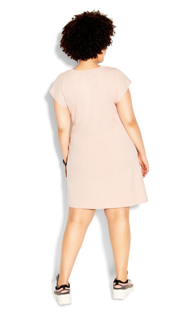 Easy Side Tie Dress - rose