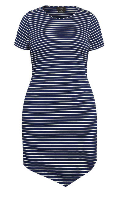 Laid Back Stripe Dress - navy