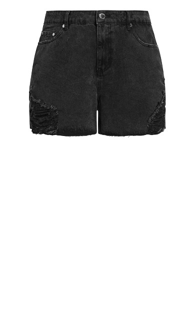 Super Frayed Short - black