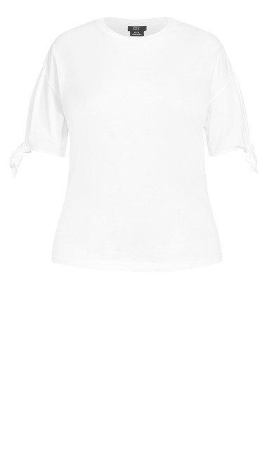 Floating Tie Top - ivory