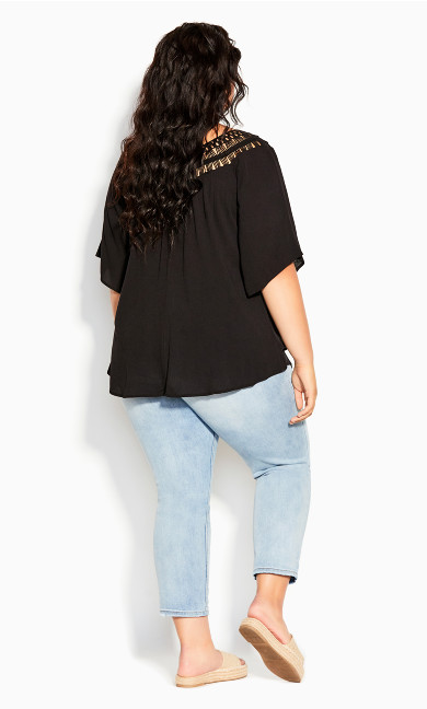 Tropical Daze Top - black
