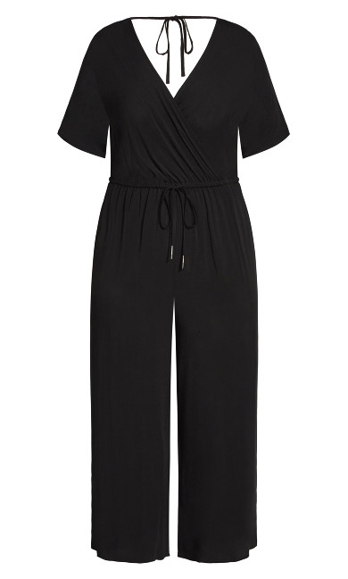 Palm Villa Jumpsuit - black