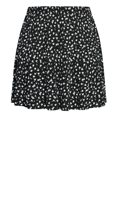 Mono Ditsy Skirt - black