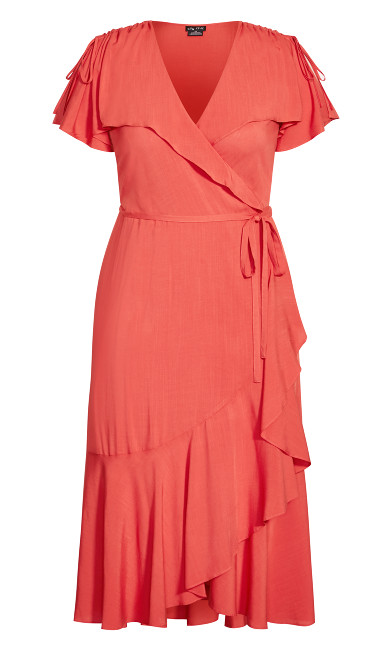 Palm Love Maxi Dress - tangerine