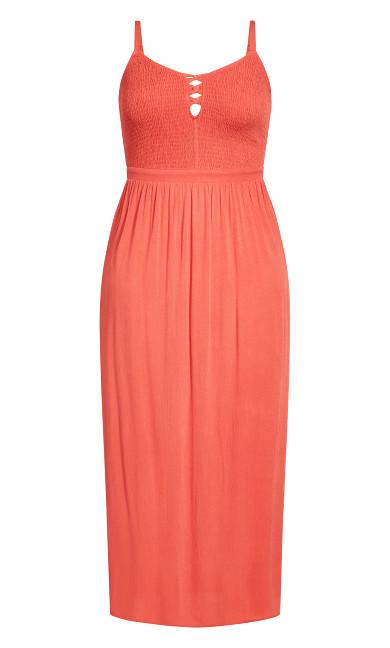 Riviera Maxi Dress - tangerine