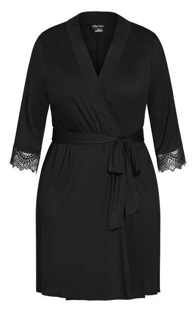 Kasia Short Robe - black