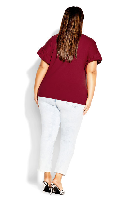 Spirit Sleeve Top - ruby