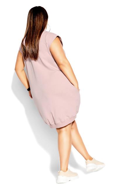 Simple Hoodie Dress - dusty rose