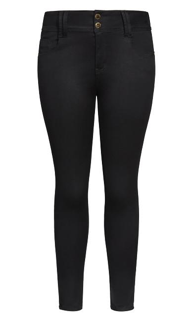 Asha Skinny Petite Black Jean - black