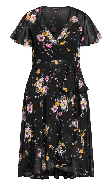 Summer Rose Dress - black