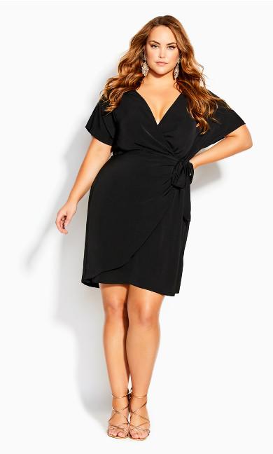 Seasonal Tie Dress - black