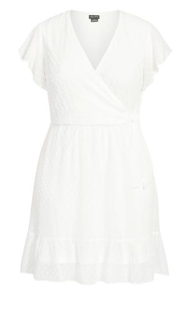 Dobby Tie Dress - white