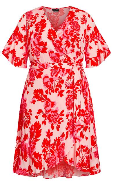Scarlet Floral Dress - pink