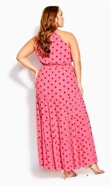 Party Spot Maxi Dress - sugar pink