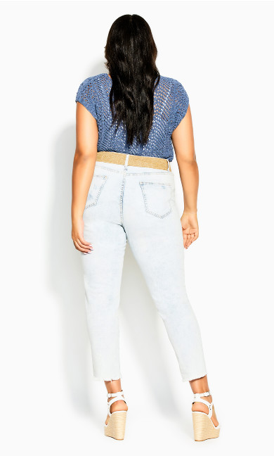 Weave Bliss Top - indigo