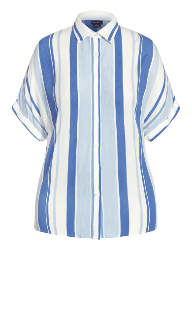 Hamptons Stripe Top - indigo stripe