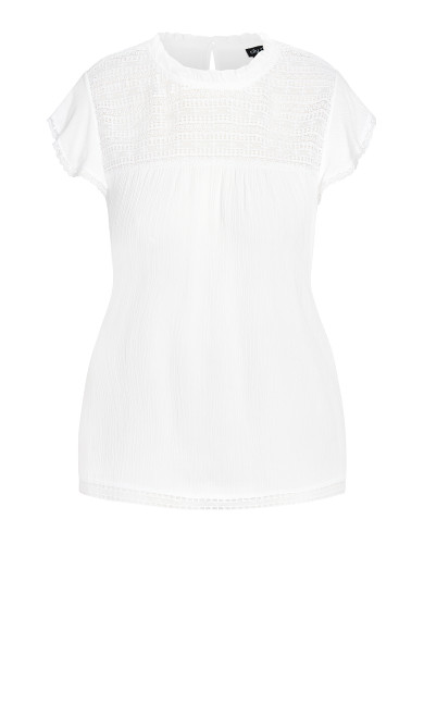In Detail Top - ivory