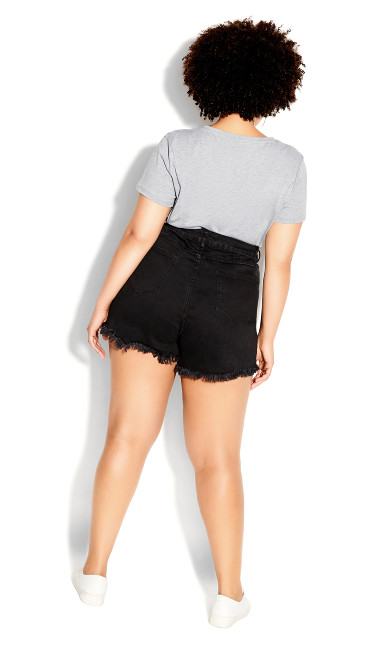 Sexy Fray Short - black