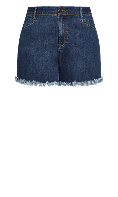 Sexy Fray Short - classic wash