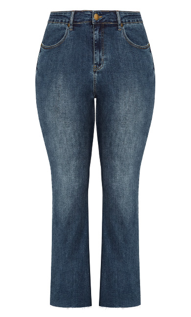 Harley Crop Flare Jean - classic wash