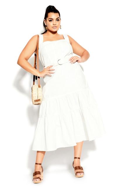 Denim Thrills Maxi Dress - ivory