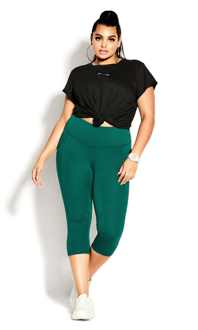 Scrunch Bum Legging - sea green