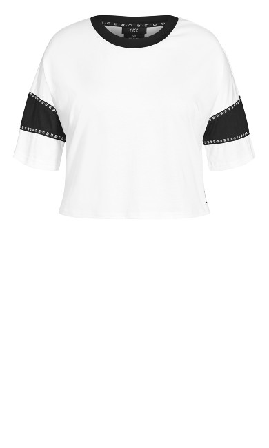 On The Cuff Tee - ivory