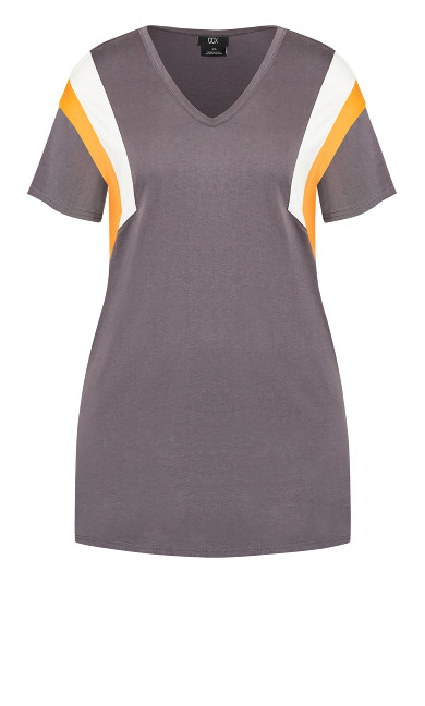 Stripe Charm Dress - granite