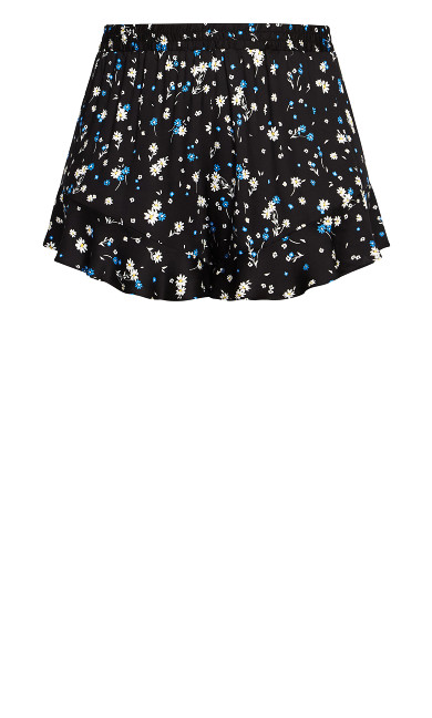 Kitty Print Short - daisy blue
