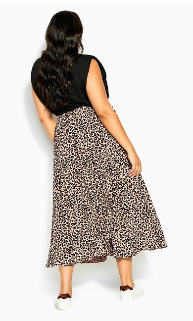 Pleat Prowess Skirt - leopard