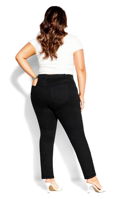 Harley Asymmetric Jean - black