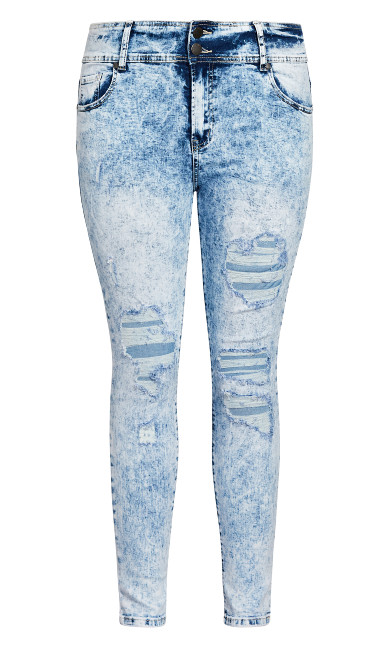 Asha Distressed Jean - light wash