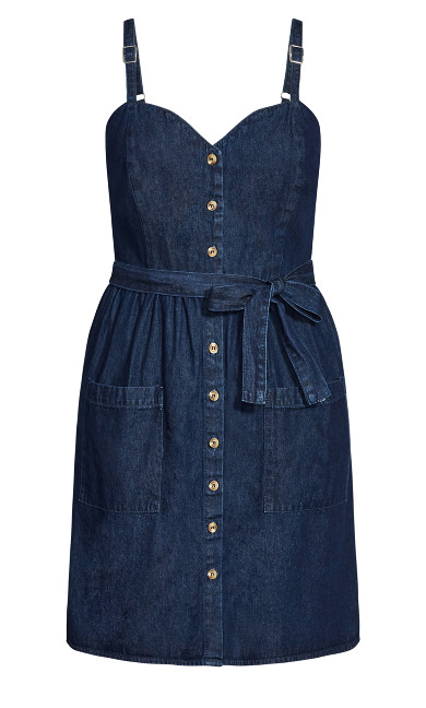 Sweet Denim Dress - dark denim