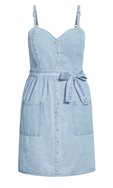 Sweet Denim Dress - light denim