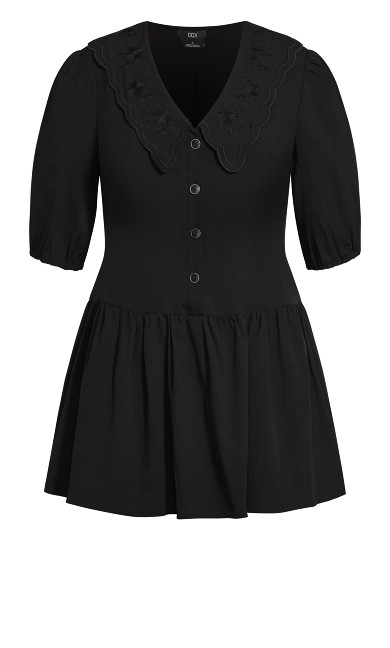 Collard Love Dress - black