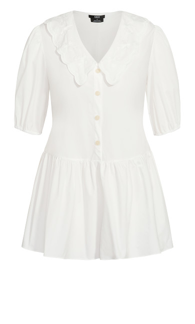Collared Love Dress - ivory
